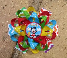Mickey Mouse Clubhouse Inspired Custom by AddisonsBowtique on Etsy