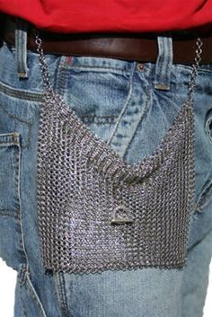 Chain maile! Long wearing. Small Belt Pouch would be handy for events