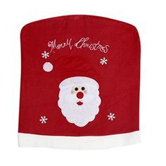 Lucoo Lovely New Christmas Santa Claus Chair Back Cover Snowman Hat Dinner Table Party Decor A