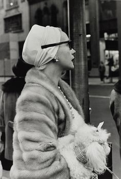 Woman on 5th Avenue, NYC, November 1961. Photo: Larry Fink.