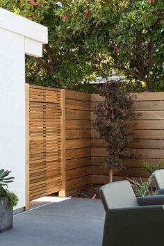 clôture de jardin en bois portillon-exterieur-deco-nature-idees
