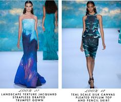 Favorites from the Monique Lhuillier show at #NYFW