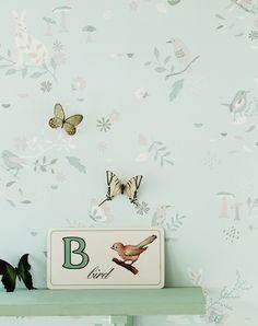 Secret Garden wallpaper in Waterlily by www.hibouhome.com