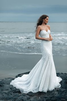 With layers of glittering tulle that move as gracefully as the ocean, the Ariel-inspired Platinum gown is adorned with sea-inspired pearls, crystals, glass beads, and sequins that sparkle and shimmer throughout. Simple Sexy Wedding Dresses, Sweetheart Wedding Dress, Wedding Dress Sizes, Wedding Gowns, Bridal Gown, Wedding Bride, Disney Inspired Wedding Dresses, Bridal And Formal, Mermaid Gown