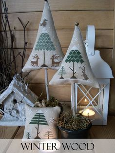 Winter Wood Cross Stitch Patterns Set by LittleStitcherShop, $12.80
