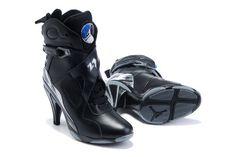 Air Jordan 8 High Heels in Black
