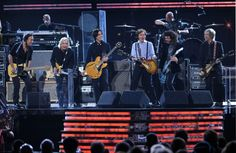 "Bruce Springsteen, Dave Grohl and Joe Walsh joined Paul McCartney and his band members Rusty Anderson and Brian Ray for a medley of Beatles songs from Abbey Road at the 54th GRAMMYs in 2012. Will there be an encore at ""The Night That Changed America: A GRAMMY Salute To The Beatles""? Tune in to CBS on Feb. 9 to see"