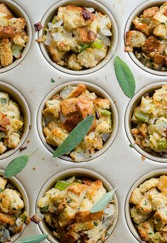 Apple-Sage Stuffing Cups from @bettyjoslyn
