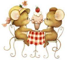 muisjes aan tafel