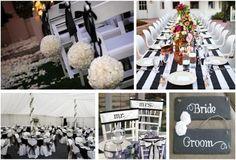 Black & White Wedding Reception