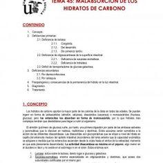TEMA 45 - HACHERO Lola Fernández de la Fuente Bursón 1 TEMA 45: MALABSORCIÓN DE LOS HIDRATOS DE CARBONO CONTENIDO  Concepto.  Deficiencias primarias:. http://slidehot.com/resources/malabsorcion-de-los-hidratos-de-carbono-pediatria-lolaffb.55241/