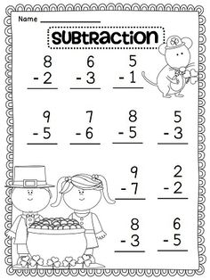 Perfeito para os pequenos do Fundamental I ! Kindergarten Addition Worksheets, Subtraction Kindergarten, English Worksheets For Kids, Kindergarten Math Worksheets, Preschool Curriculum, Teaching Math, In Kindergarten, Math Activities, Teaching Geography
