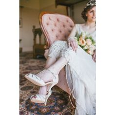 ff56729db Mimosa by Rachel Simpson Leather Ivory Vintage T-Bar Designer Wedding or  Occasion Shoes Rachel