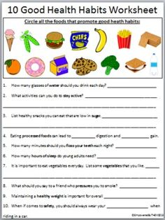 ... Healthy Dinner, Healthy Habits Worksheets, Phonics Grammar Word Work