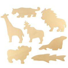 Wooden Zoo Drawing Templates from BigJigs Toys
