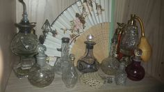 Crystal perfume bottles 1900's