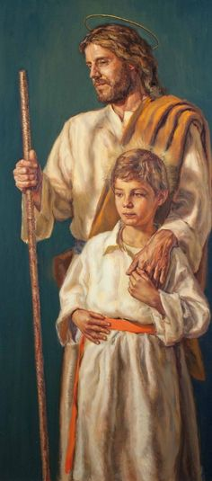 """gaze-on-jesus: """" Love Saint Joseph a lot. Love him with all your soul, because he, together with Jesus, is the person who has most loved our Blessed Lady and been closest to God. Catholic Art, Catholic Saints, Religious Art, Pictures Of Christ, Religious Pictures, Mary And Jesus, Jesus Is Lord, Christian Images, Christian Art"""