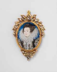 """Nicholas Hilliard (British, ca. 1547–1619). Portrait of a Woman, 1597. The Metropolitan Museum of Art, New York. Fletcher Fund, 1935 (35.89.2) 