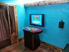 2021 Arcade Cabinet Plans, Pi Arcade, Mame Cabinet, Video Game Rooms, Video Games, Game Room Design, Contemporary Bathrooms, Contemporary Homes, Basement Remodeling