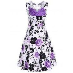 #trendsgal.com - #Trendsgal Sweetheart Neck Floral Print Dress - AdoreWe.com
