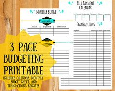 Budgeting Printables To Help You Keep Your Finances In Check