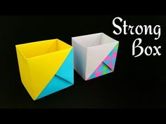 Strong Dual Tone Box from A4 paper - Useful Origami Tutorial by Paper Folds ❤️ - YouTube