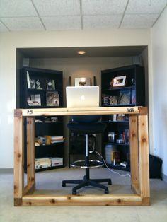 DIY Standing + Draft Desk