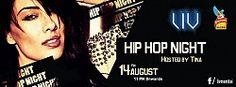 Hip Hop Night at LIV  Tina raises temperatures with a hip hop night at LIV on 14th Aug.  Hiphop music by DJ Kumar.  Entry strictly by Guestlist only.