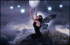 Moon fairy motif.