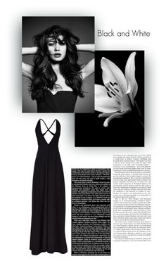 """""""Black and White"""" by paulabaum ❤ liked on Polyvore featuring Solace"""