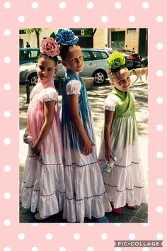 Spanish Holidays, Daily Dress, Dress Tutorials, Little Girls, Hair Makeup, Tulle, Dressing, Flower Girl Dresses, Hairstyle