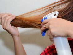 Milk Spray | This is one of the easiest methods to get your hair straight naturally.