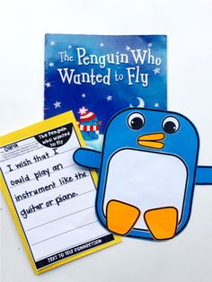 Free text to self writing craft to accompany the book The Penguin Who Wanted to Fly by Catherine Vase