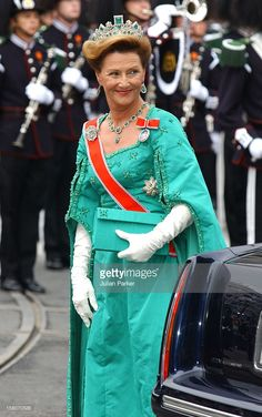 Queen Sonja Attends The Wedding Of Crown Prince Haakon Of Norway