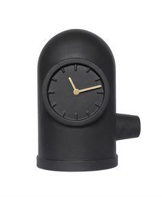 Base - Table clock - Matt Black/Brass - LEFF Amsterdam at La Brea Store