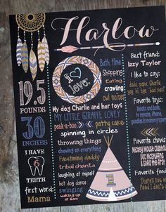 TRIBAL BIRTHDAY SIGN pow wow chalkboard tee pee teepee dream catcher First birthday sign Printable Size 1620 photo prop chalkboard First Birthday Sign, Baby Girl 1st Birthday, Bday Girl, 3rd Birthday Parties, Birthday Ideas, Birthday Signs, Party Box, Party Time, Baby Party