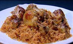 מתכון לפלאוגיג': מתכון עירקי לאורז עם עוף של עמוס בלאיש ממאסטר שף. אורז שמתבשל בציר עוף עם הרבה בצל מטוגן ועוף מטוגן מלמעלה. מנה פשוטה וסופר טעימה