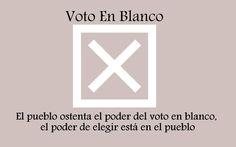 Voz a Voz, Voto en blanco, victoria contundente!! ola blanca!!
