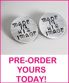 Made In His Image Hand stamped stud earrings! https://www.etsy.com/shop/cicinspireme $24 #jewelry #earrings #handstamped