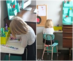 Put a mini workspace next to your desk so your kids can work along side you!