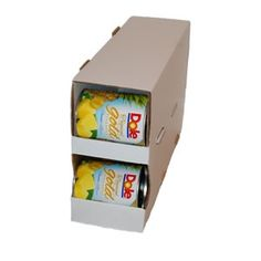 This website sells cardboard can rotation systems for cheap, so you aren't spending a fortune on the plastic shelf reliance ones.