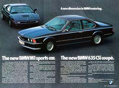 BMW 635CSi & M1 adv