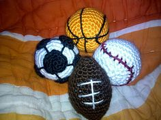 Crocheted Baby Sports Balls!