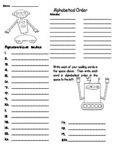 Robot Spelling Activites by Martin Science Spelling Word Activities, Spelling Lists, Spelling Words, Reading Activities, 3rd Grade Spelling, 2nd Grade Ela, Second Grade, Robot Classroom, Classroom Ideas