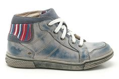 Boys Boots - Harklin Hi in Denim Blue Leather from Clarks shoes