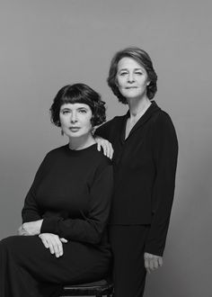 Charlotte Rampling and Isabella Rossellini