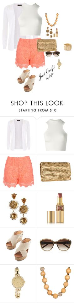 """""""Summer Outfit by Lyla"""" by lidijalyla ❤ liked on Polyvore featuring Versace, Jane Norman, H&M, Dolce&Gabbana, Yves Saint Laurent, M&S, GE, Kate Spade and The Limited"""