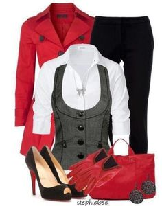 red black grey style ♥✤ | Keep the Glamour | BeStayBeautiful