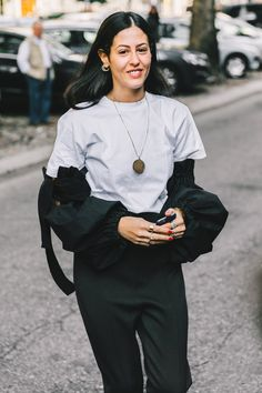 Giornale di moda - Milan Fashion Week SS17 Street Style - September 2016