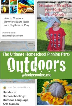 Outdoors at The Ultimate Homeschool Pinning Party